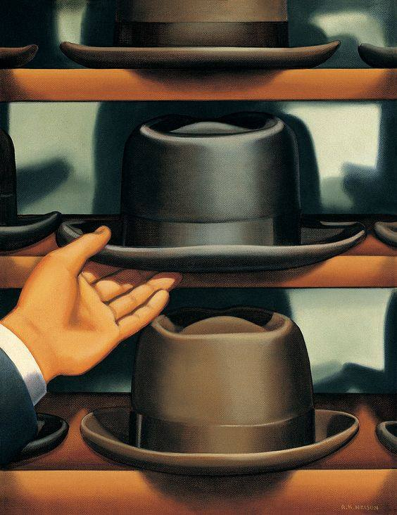 on selecting a hat by Kenton Nelson